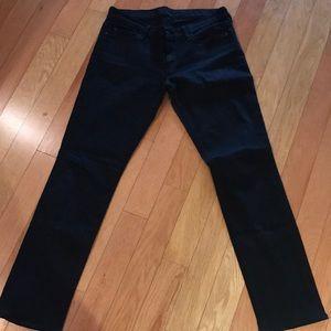 7 for all man kind black straight leg jeans